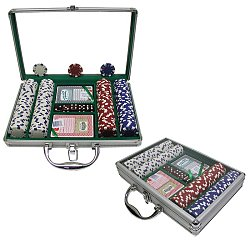 Striped Dice Poker Chip Set