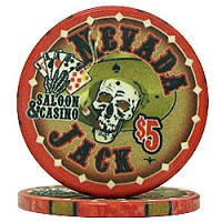 Quality Nevada Jacks Poker Chips