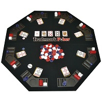 Poker Chip Set with Poker Table & Supplies