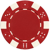 Quality Striped Dice Poker Chips