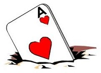 Work the ace in the hole in heads up poker play